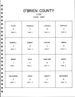 O'Brien County Code Map, O'Brien County 1998